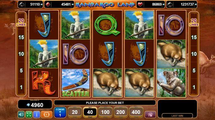 игровой автомат kangaroo land онлайн egt